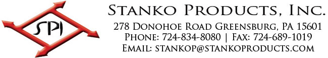 Stanko Products Inc, 278 Donohoe Road Greensburg, PA 15650, Phone: 724-834-8080, Fax: 724-689-1019, Email: STANKOP@STANKOPRODUCTS.COM